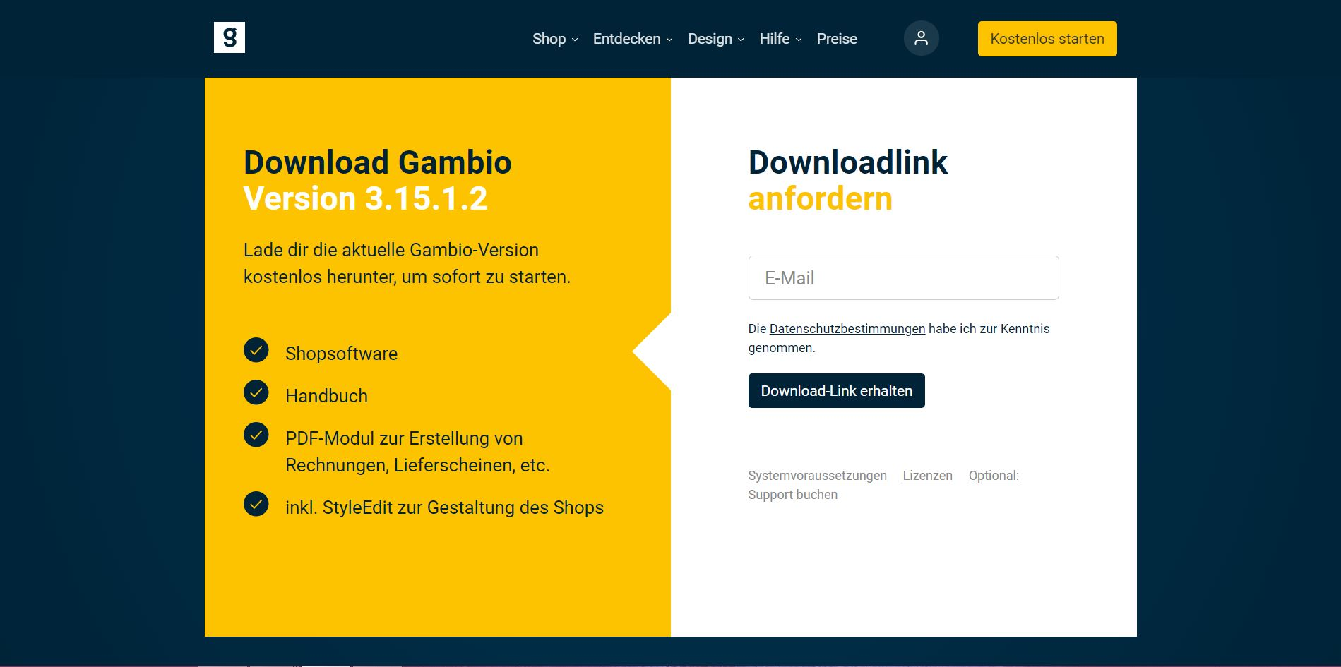 Gambio Download