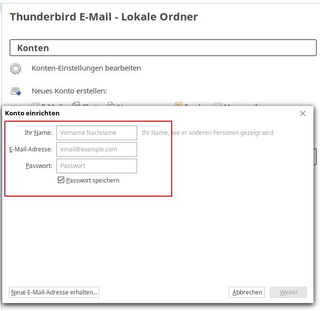 Thunderbird unter Linux Mint / Ubuntu einrichten › Shop Hosting von ...