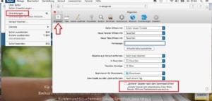 """Im Browser Safari haben Sie in der Ansicht """"Allgemein"""" die Möglichkeit das automatische Entpacken zu deaktivieren."""