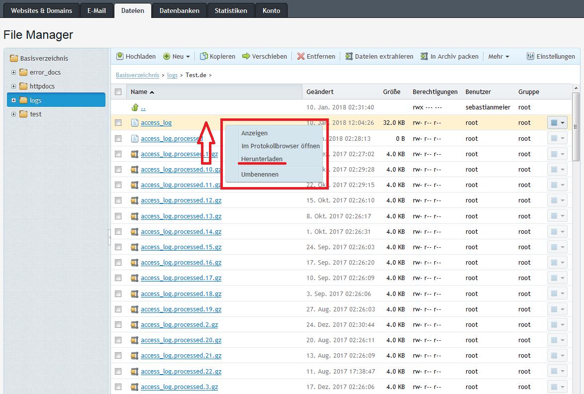 access_log download